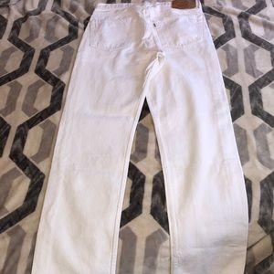 Vintage White Levi's 501 jeans 👖